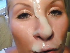 Facial and cum play...   HOT!!