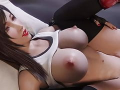 Tifa Lockhart's Pummel And Get Internal Ejaculation By Auxtasy