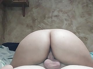 Experience Him Cowgirl with a Sloppy Pussy filling