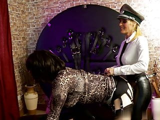 Officer strapon bitch assfucks sissy whore