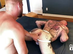 blond top fucking bareback a tattooed mucled manfree full porn