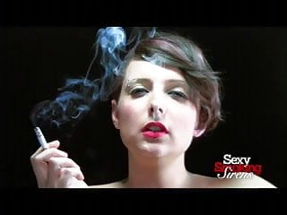 Smoking Fetish - Lola Smoking a Cigarette in Black Gloves