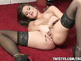 Little Caprice teases herself before fisting herself on cam
