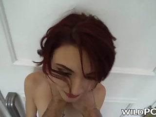 18yo redhead lola faye tied up before anal...