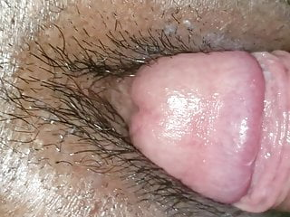 Cock rubs clit...