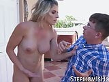 MILF beauty Cory Chase has fun with stepsons nerdy dick