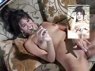 Troublemaker tight cunt and plays with knobby cock...