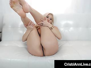Oils up her boobs feet pussy...