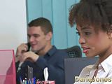 Dane Jones Sexy young Ebony office girl fucks the boss