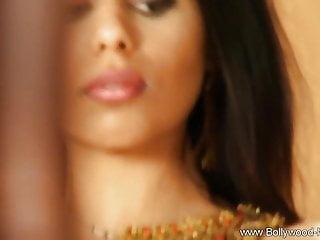 Brunette Striptease Milf video: Exotic Mistress Indian Bedroom