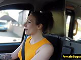 British taxi les pussylicked on the backseat