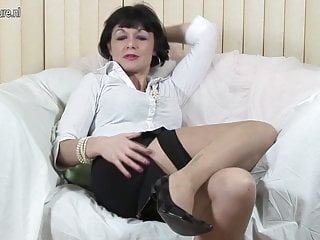 Kinky British mother working her pussy