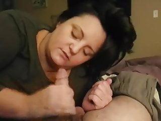 Sucking cock...