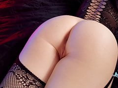 Horny Brunette Fucks Herself With Dildo and Buttplug and has Orgasm
