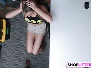 Backroom Sex Or Jail For Innnocent Teen Shoplifter