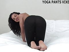 Rub your rock hard cock against my yoga pants joi