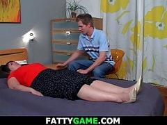 Horny big boobs plumper riding his cock