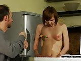 Lovely brunette teen slave submits to her Master & punished