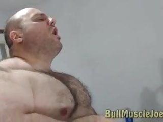 sexy daddy bull muscle joe showing hus stuff