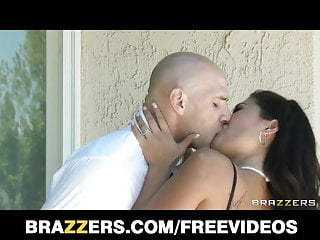 Brazzers in fishnets rides dick...