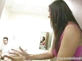 Angry Babe Giving Handjob