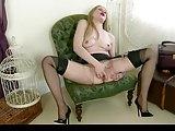 British Blonde JOI in Layered Nylons