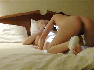 80yo alone his with cock hotel sucking in Wife