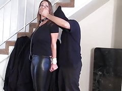 Busty naked slave vibed and fucked