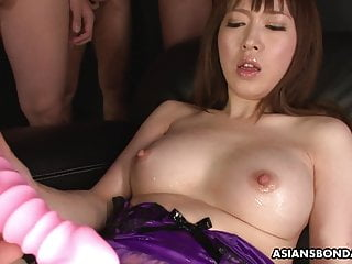 Sexy Sayaka Tsuji is pleasuring in entrance of many guys