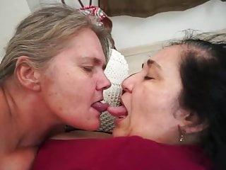 Lez vid with joyce amp antonella face lick...
