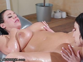 AllGirlMassage Angela White & Jade Baker Oily Dovefucking