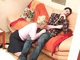 Mature mom seduces young boy