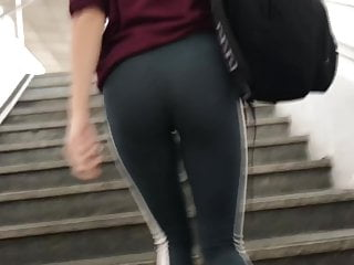 Lovely school girl in VTL LEGGINGS