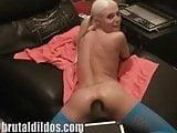 Slut Jayda Diamonde anal gaped by brutal dildo machine