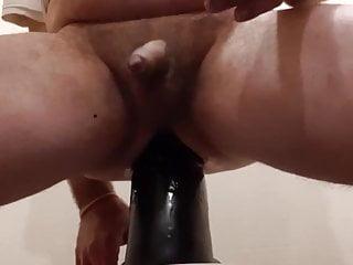 Stretching dildo XXXL extreme anal insertions