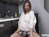 Preggo Lina Strips Nude and Masturbates!