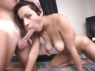 wife with saggy tits blow job