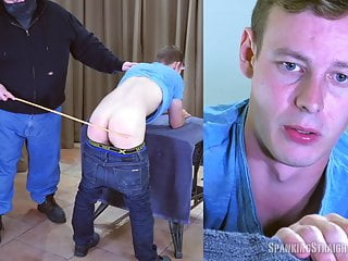 Straight Boy Gets a Hard Caning from a Gay Man
