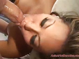 Asian hot bunny gets pounded raw and...