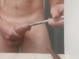 Huge 11mm sound pushed hard into my big cock