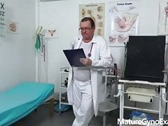 Hot blonde Nicole Star and her gynecologist