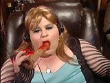 BBW Sissy - Sucking my dildo