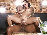 TS Foxxy's ass filled with BBC