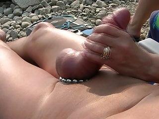 Suzy handjob beach...
