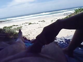 Wife pulling me off beach pt1...