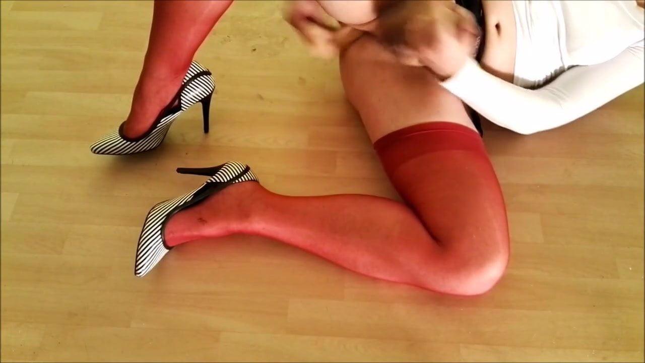 tranny strumpfhosen anal