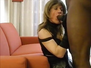 Mature tranny fucked by young bbc...