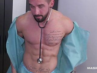 Sexy Nurse Rips Shirt Off & Masturbates (Uncut Footgae)