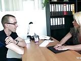 German Mature Seduce Young Boy to Fuck at job interview