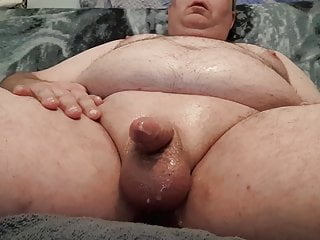 Fat bear greases his little willy...